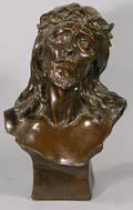 422 Large Composition Sculpture of Christ Signed