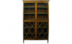 317 English Mahogany Chippendale Style 2 Door Cabinet