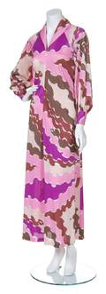 An Emilio Pucci Pink and Multicolor Print Dress