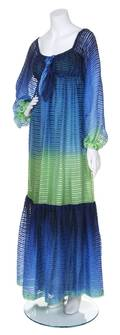 A Givenchy Blue and Green Ombre Gown