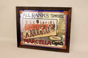 Marcella Cigars Mirrored Advertisement