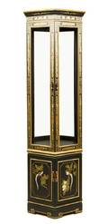 An Ebonized and Gilt Decorated Vitrine