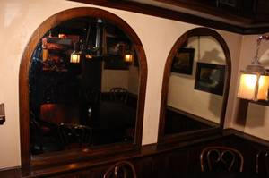 Pair of Oak Arched Mirrors