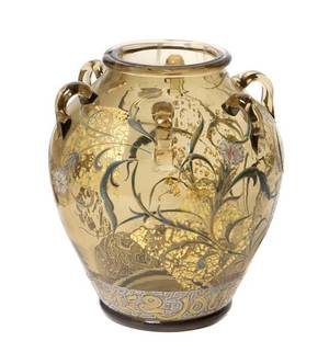 An Emile Galle Enameled Glass Vase French 18461904