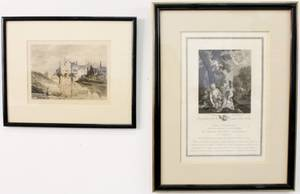 Group of Two Late 18th C Engravings