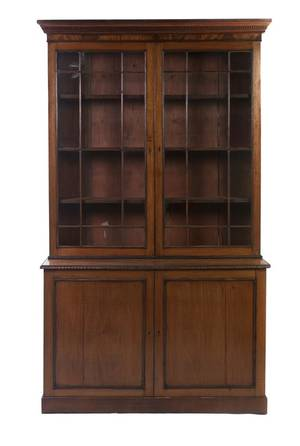 A George III Mahogany Stepback Cupboard