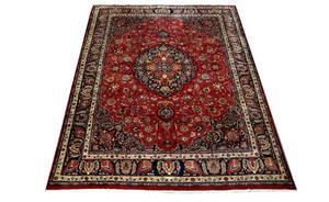391 Persian 5Border Fringed Sarouk Carpet