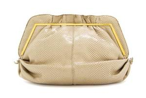 A Judith Leiber Tan Lizard Skin Bag