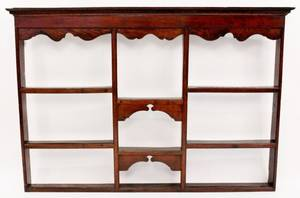 19th C English Oak Plate Rack