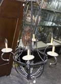 A Painted Metal SixLight Chandelier