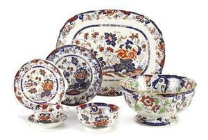 A Minton Ironstone Partial Dinner Service