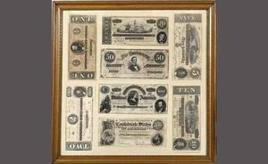 578 Framed Confederate Bond Currency