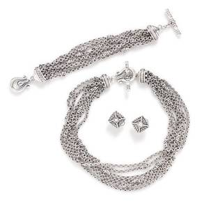 A Collection of Sterling Silver and Diamond Jewelry Scott Kay