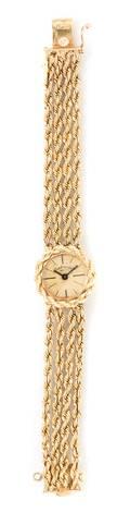 A 14 Karat Yellow Gold Wristwatch Continental