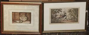 A Collection of Five Framed Decorative Works
