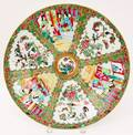 Chinese Rose Medallion Round Platter
