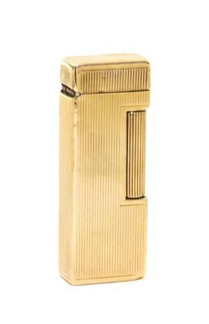 An American 14Karat Gold Lighter Dunhill Mid 20th Century