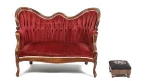 A Victorian Mahogany Settee