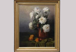 43 Oil on Canvas Still life Signed H Gerard
