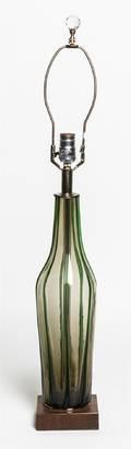 An Italian Glass Table Lamp