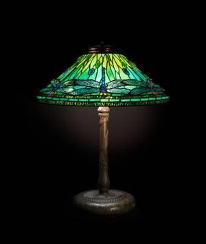 A Tiffany Studios Favrile Glass and Bronze