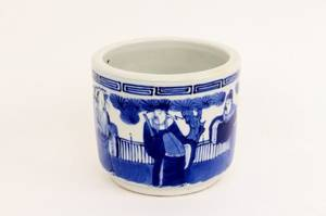 Chinese Blue  White Porcelain Brush Pot