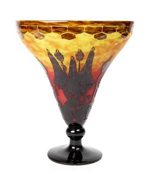 A Le Verre Francais Cameo Glass Vase Charles Schneider