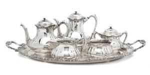 An American Silverplate Tea and Coffee Service Reed  Barton