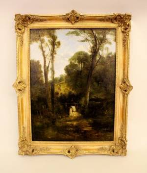 Mid19th C English Oil on Canvas