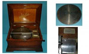 1073 STELLA OAK CASED MUSIC BOX