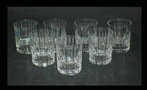 1137 Group of 7 Baccarat France Cut Crystal Harmonie