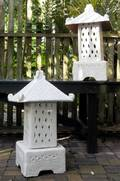A Pair of Cast Plaster Garden Lanterns