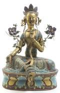 A Cloisonne Enamel Brass Figure