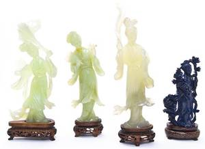 A Group of Four Chinese Carved Hardstone Figures