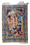 A Pictorial Wool and Silk Rug