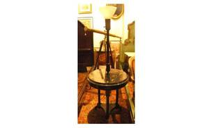 151 Ebonized TableLamp with inlaid motherofpea