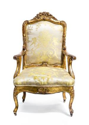 A Continental Giltwood Armchair