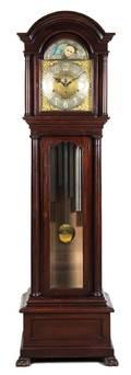 An American Mahogany Case Clock
