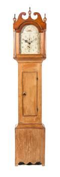 An American Pine Tall Case Clock