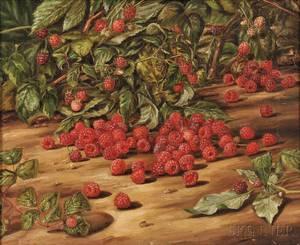 Charles S Mills American fl 18151883 Still Life with Raspberries