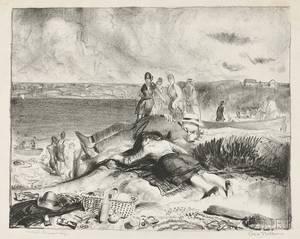 George Wesley Bellows American 18821925 Legs of the Sea