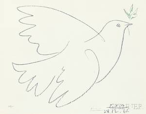 After Pablo Picasso Spanish 18811973 Dove of Peace