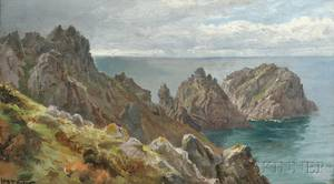 William Trost Richards American 18331905 Coastal Cliffs