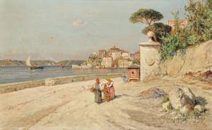 Giuseppe Carelli Italian 18581921 On the Italian Coast