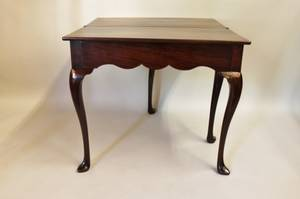 L 18th C English Mahogany Game Table