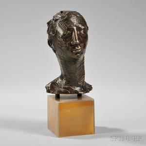 Kahlil Gibran American 19222008 Head of a Man