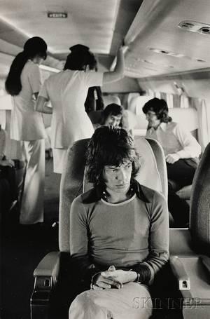 Jim Marshall American 19362010 Mick Jagger on Tour Plane