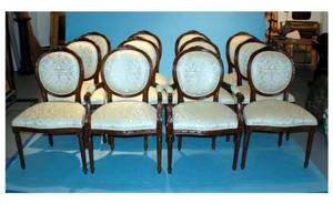 1174 Set of 12 Louis XVI Style Dining Chairs 38 14 i