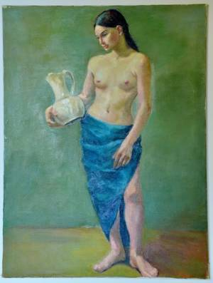 Dorothy Poole Oil on Canvas Nude