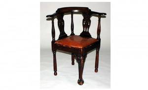 1172 English Mahogany Corner Chair 19th Century with